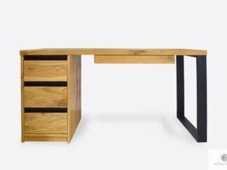 Eiche Schreibtisch mit Schubladen aus Massivholz ins Büro MARLON