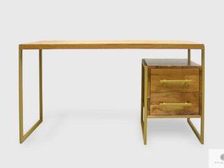 Industrielle Holzschreibtisch mit Metallbeinen ins Büro GERDA