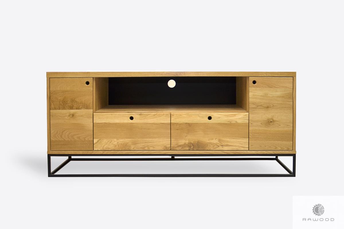 Industrielle loft TV Schrank aus Eichenholz in Wohnzimmer MERIS
