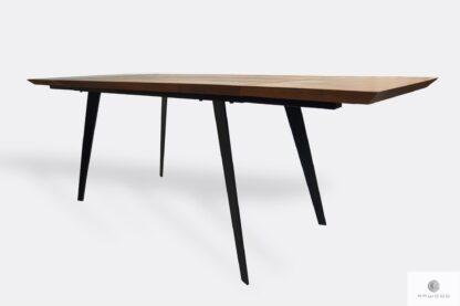 Modern Eiche Ausziehbar Tisch mit Metallbeinen CORTEZ