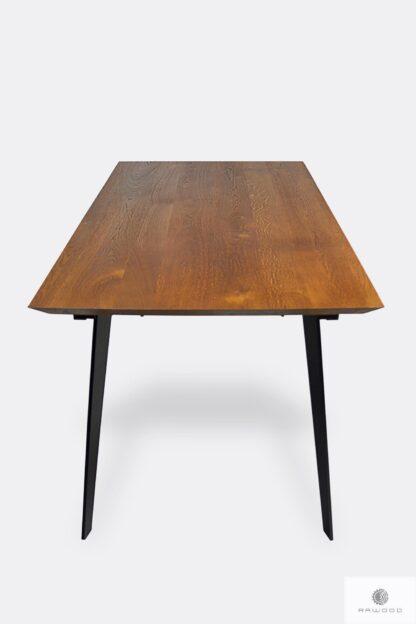 Tisch mit Eiche Tischplatte und Metallbeine ins Esszimmer CORTEZ