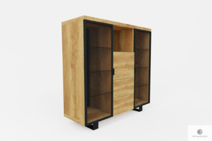 Holz Barschrank für Alkohol und Gläser DELIO
