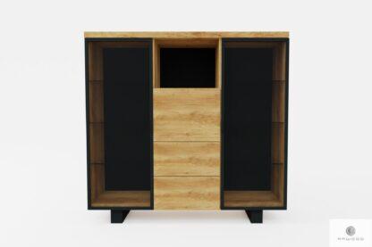 Holz Barschrank für Alkohol und Gläser ins Wohnzimmer DELIO