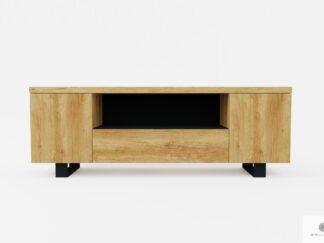 Industrial oak TV cabinet loft to living room DELIO