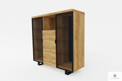 Modern Holz Barschrank mit Regale ins Wohnzimmer DELIO