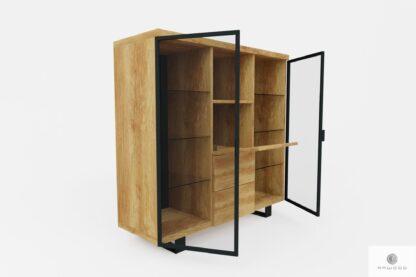 Holz Hausbar für Alkohol und Gläser ins Arbeitzimmer DELIO