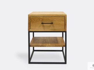 Industrielle Eiche Nachttisch mit Schublade und Regal ins Schalfzimmer MERIS I