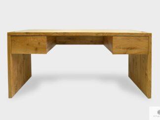 Modern Eiche Schreibtisch mit Schubladen aus Massivholz ins Büro DAVOS I