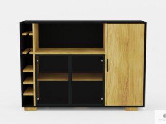 Design Eiche Barschrank ins Wohnzimmer CARLA