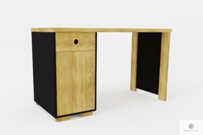 Design Eiche Schreibtisch mit Container ins Arbeitzimmer CARLA