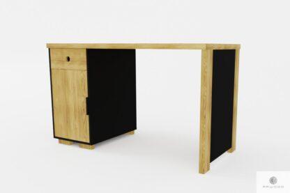 Holz Bürotisch mit Schublade und Container CARLA
