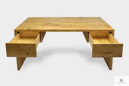 Elegant Eiche Schreibtisch mit Schubladen auf Dimension ins Arbeitzimmer DAVOS I