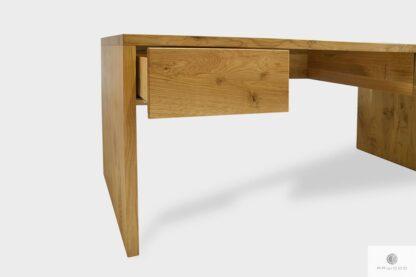 Elegant Eiche Schreibtisch aus Massivholz mit Schubladen ins Arbeitzimmer DAVOS I