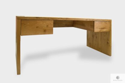 Modern massive Eiche Schreibtisch mit Schubladen ins Arbeitzimmer DAVOS I