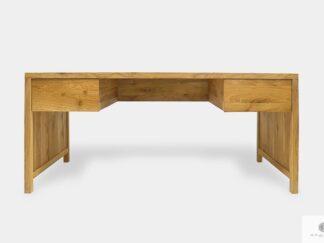 Eiche Schreibtisch mit Schubladen aus Massivholz ins Arbeitzimmer DAVOS II