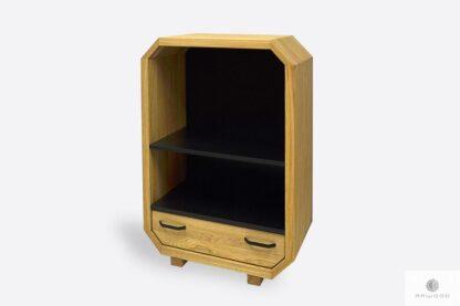 Holz Kommode auf Beine mit Schublade und Regale ins Wohnzimmer OMNIS II