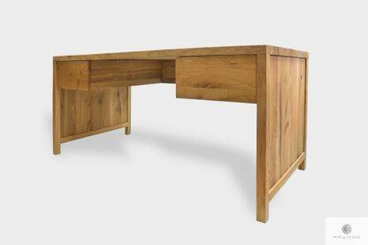 Massive Eiche Schreibtisch mit Schubladen ins Arbeitzimmer DAVOS II