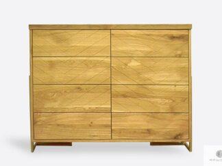 Nowoczesna komoda dębowa z szufladami do salonu CARIN I